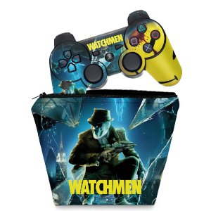 KIT Capa Case e Skin PS3 Controle - Watchmen