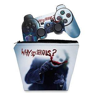 KIT Capa Case e Skin PS3 Controle - Joker
