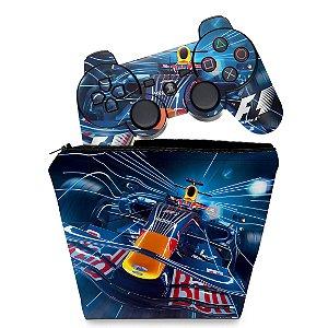 KIT Capa Case e Skin PS3 Controle - Formula 1