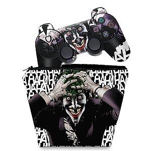 KIT Capa Case e Skin PS3 Controle - Joker Coringa