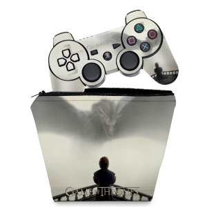 KIT Capa Case e Skin PS3 Controle - Game Of Thrones #b