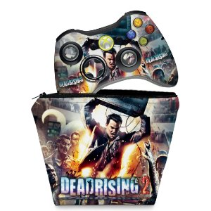 KIT Capa Case e Skin Xbox 360 Controle - Dead Rising