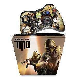 KIT Capa Case e Skin Xbox 360 Controle - Army Of Two
