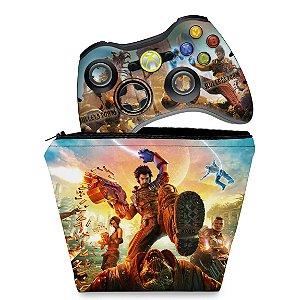 KIT Capa Case e Skin Xbox 360 Controle - Bulletstorm
