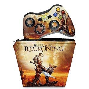 KIT Capa Case e Skin Xbox 360 Controle - Reckoning