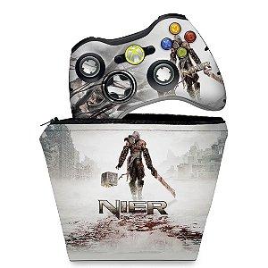 KIT Capa Case e Skin Xbox 360 Controle - Nier