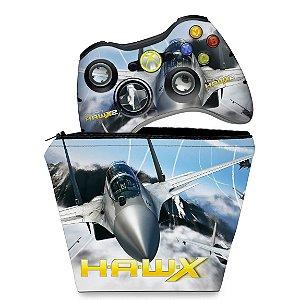 KIT Capa Case e Skin Xbox 360 Controle - Tom Clancys Hawx