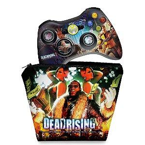 KIT Capa Case e Skin Xbox 360 Controle - Dead Rising 2