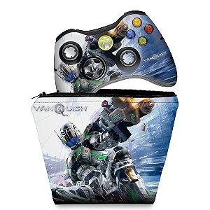 KIT Capa Case e Skin Xbox 360 Controle - Vanquish