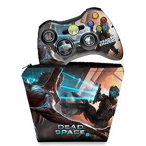 KIT Capa Case e Skin Xbox 360 Controle - Dead Space 2