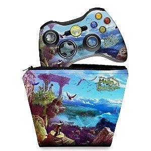 KIT Capa Case e Skin Xbox 360 Controle - Majin Forsaken