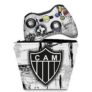 KIT Capa Case e Skin Xbox 360 Controle - Atletico Mineiro