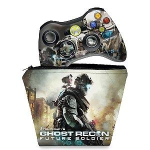 KIT Capa Case e Skin Xbox 360 Controle - Ghost Recon Future 2 Ud