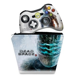 KIT Capa Case e Skin Xbox 360 Controle - Dead Space 3