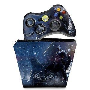 KIT Capa Case e Skin Xbox 360 Controle - Batman Arkham Origins