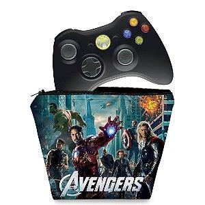 Capa Xbox 360 Controle Case - Avengers Vingadores