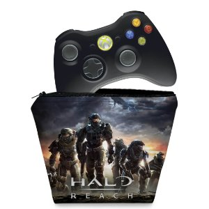 Capa Xbox 360 Controle Case - Halo Reach