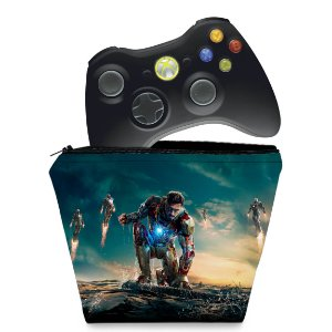 Capa Xbox 360 Controle Case - Homem De Ferro #a
