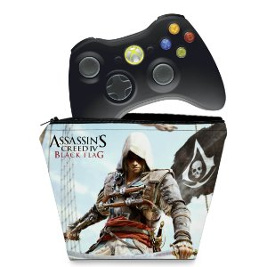 Capa Xbox 360 Controle Case - Assassins Creed IV Black Flag