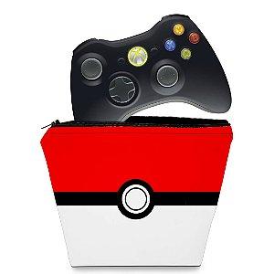 Capa Xbox 360 Controle Case - Pokemon Pokebola