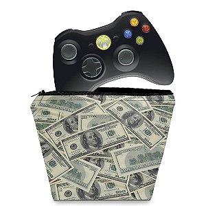 Capa Xbox 360 Controle Case - Dollar Money Dinheiro