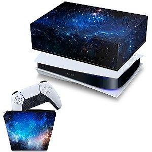 KIT PS5 Capa e Case Controle - Universo Cosmos