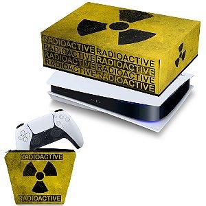 KIT PS5 Capa e Case Controle - Radioativo