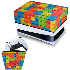 KIT PS5 Capa e Case Controle - Lego Peça