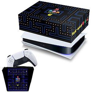 KIT PS5 Capa e Case Controle - Pac Man