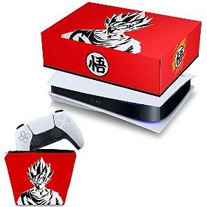 KIT PS5 Capa e Case Controle - Dragon Ball Goku Kaiô