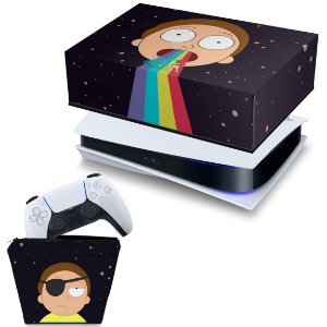 KIT PS5 Capa e Case Controle - Morty Rick And Morty