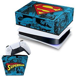 KIT PS5 Capa e Case Controle - Superman Comics