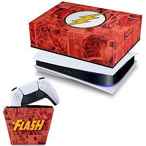 KIT PS5 Capa e Case Controle - The Flash Comics
