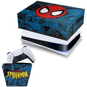 KIT PS5 Capa e Case Controle - Homem-Aranha Spider-Man Comics
