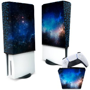 KIT Capa PS5 e Case Controle - Universo Cosmos