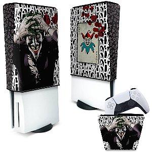 KIT Capa PS5 e Case Controle - Joker Coringa
