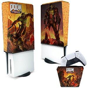 KIT Capa PS5 e Case Controle - Doom Eternal