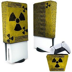 KIT Capa PS5 e Case Controle - Radioativo