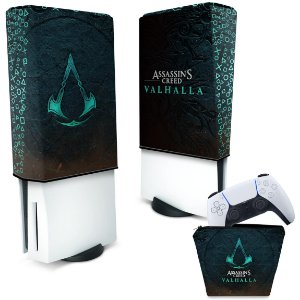 KIT Capa PS5 e Case Controle - Assassin's Creed Valhalla