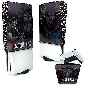 KIT Capa PS5 e Case Controle - Resident Evil 3 Remake