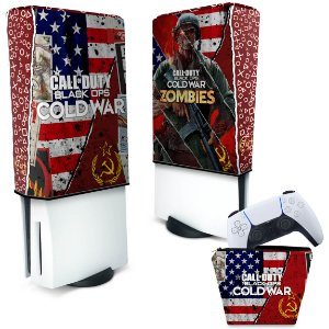 KIT Capa PS5 e Case Controle - Call Of Duty Cold War