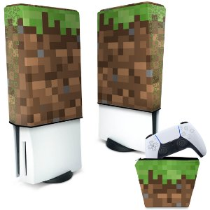 KIT Capa PS5 e Case Controle - Minecraft