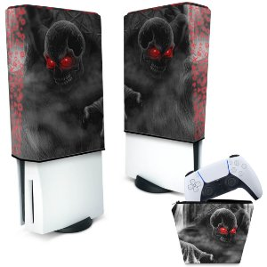 KIT Capa PS5 e Case Controle - Caveira Skull