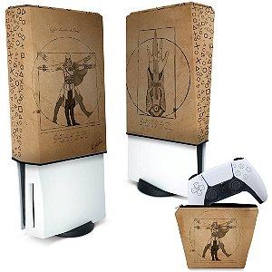 KIT Capa PS5 e Case Controle - Assassin'S Creed Vitruviano