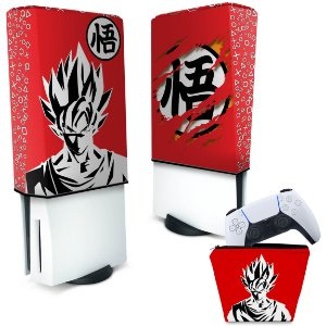 KIT Capa PS5 e Case Controle - Dragon Ball Goku Kaiô