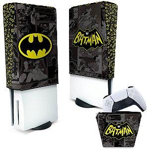 KIT Capa PS5 e Case Controle - Batman Comics