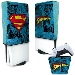 KIT Capa PS5 e Case Controle - Superman Comics