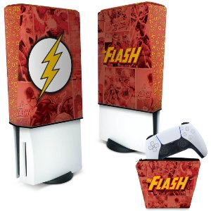 KIT Capa PS5 e Case Controle - The Flash Comics