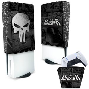 KIT Capa PS5 e Case Controle - The Punisher Justiceiro Comics