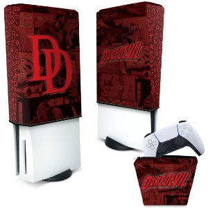 KIT Capa PS5 e Case Controle - Daredevil Demolidor Comics